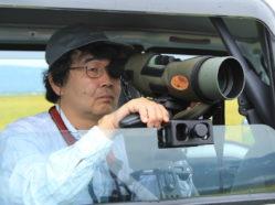 dr. nagata observing cranes