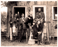 historical photo of a group of ornithologists - ornithology biographies page