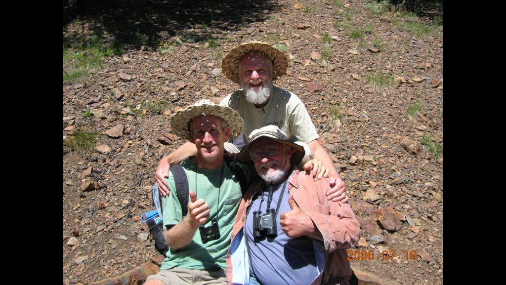 photo of dr david desante in 2006 with former field assistants