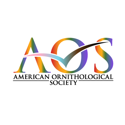 AOS logo with rainbow colors of pride flag